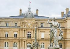 Statue of Diana in the Jardin du Luxembourg, Paris, France. Statue of Diana, a Roman goddess of the hunt, the Moon, and nature, in the Jardin du Luxembourg stock photos