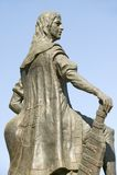 Statue of Diego Columbus, son of Christopher Columbus, at 15th-century Franciscan Monasterio de Santa Mar�a de la R�bida, Palo Royalty Free Stock Image