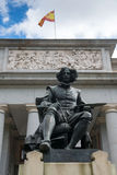 Statue of Diego Rodriguez Velazquez at the front of Prada Museum Royalty Free Stock Images