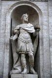 Statue di克罗Magno在罗马,意大利 库存照片