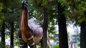 The Statue of dinosaur. This is the statue of old dinosaur in Japan Stock Image