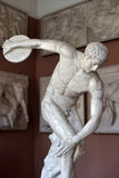 Statue of Discus Thrower. Thrower sculpture, the museum casts, St. Petersburg, Russia Royalty Free Stock Image