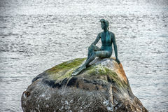 statue of the diver Stanley park Vancouver Canada Royalty Free Stock Images