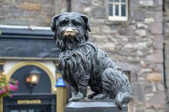 Statue of the dog Greyfriars Bobby in Edinburgh. The statue of the dog Greyfriars Bobby in Edinburgh Stock Image
