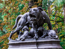 Statue of a dog in the Park of Grand Rond Royalty Free Stock Image