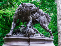 Statue of a dog in the Park of Grand Rond Royalty Free Stock Photos