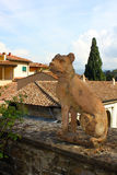 Statue of the dog in Villa Bardini, Florence. Old statue of the dog in Bardini Garden Stock Images