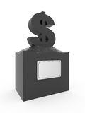 Statue of dollar. Royalty Free Stock Images