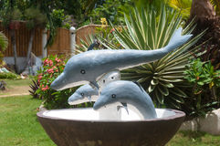 Statue of dolphins Stock Image