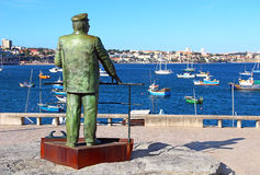 Statue of Dom Carlos in Cascais, Portugal Royalty Free Stock Images