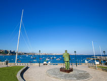 Statue of Dom Carlos I in Cascais, Portugal Royalty Free Stock Images