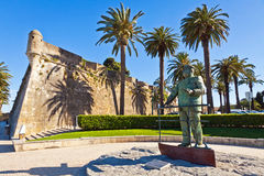 Statue of Dom Carlos I, King of Portugal, Cascais, Portugal Royalty Free Stock Photo