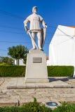 Statue of Dom Nuno Alvares Pereira in Flor da Rosa. Crato, Portugal. October 20, 2015: Statue of Dom Nuno Alvares Pereira in Flor da Rosa. Portuguese national Royalty Free Stock Photo