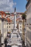 Statue of Dom Pedro IV, Lisbon Royalty Free Stock Photos