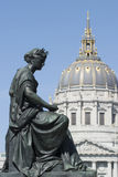 Statue with dome portrait Royalty Free Stock Photo