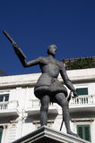 Statue of Don Juan of Austria in Messina at Catalani square,Sicily,Italy Stock Photos