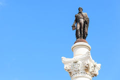 Statue of Don Pedro IV on the Don Pedro square also called Rossi Royalty Free Stock Photography