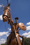 Statue of Don Quixote, la Mancha in Spain Stock Photos