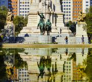 Statue of Don Quixote and Sancho Panza. In Madrid, Spain Royalty Free Stock Image