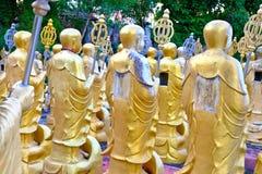 Statue dorate del buddha Immagini Stock Libere da Diritti