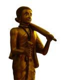 Statue dorate del buddha Fotografie Stock Libere da Diritti