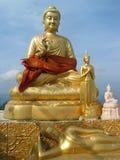 Statue dorate di Buddha Fotografia Stock Libera da Diritti