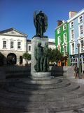 Statue in downtown Ireland Royalty Free Stock Photos