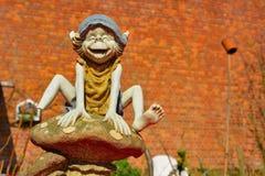 Statue drôle d'un troll Photos libres de droits