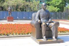 Statue of Dr Sun Yat Sen. In Taiwan park Stock Image