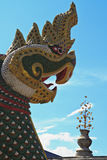 Statue of a dragon. and Buddhist Temple Royalty Free Stock Photo