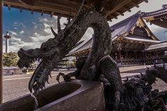 Dragon guardian of the east ward stock images