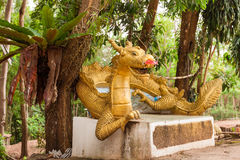 Statue of Dragon in Thailand Temple Stock Photography