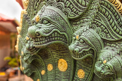 Statue of Dragon in Thailand Temple Royalty Free Stock Photography