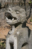 A statue of a dragon was installed in the courtyard of a buddhist temple in the countryside near Hanoi (Vietnam) Stock Image