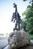 Statue of the dragon from Wawel castle Stock Photos