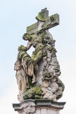 Statue Dream of St. Luthgard on the Charles Bridge in Prague, Czech Republic Stock Photography