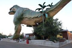 Statue du centre de dinasour de Drumheller Photos stock