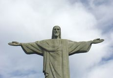 Statue du Christ dans Corcovado Photo stock