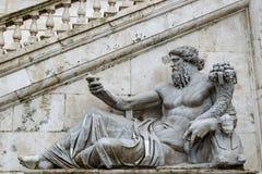 Statue du dieu de Nile River sur la colline de Capitoline, Rome photo libre de droits