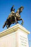 Statue du Général Guillaume-Henri Dufour, Genève, Suisse Image libre de droits