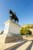 Statue du Général Guillaume-Henri Dufour, Genève, Suisse Images libres de droits