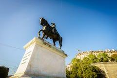 Statue du Général Guillaume-Henri Dufour, Genève, Suisse Images stock