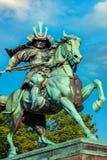 Statue du grand Kusuno samouraï au palais impérial de Tokyo image stock