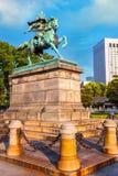 Statue du grand Kusuno samouraï au palais impérial de Tokyo photos libres de droits