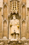 Statue du Roi Henry VIII, Cambridge Image stock