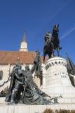 Statue du Roi Matthias Image stock