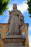 Statue du Roi Rene, le 1er, Aix-en-Provence, France photos stock