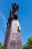 Statue of Duke Gediminas in Vilnius Royalty Free Stock Photography