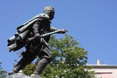 Statue of Duke Vuk Vojin Popovic in Belgrade, Serbia. Statue of Duke Vuk Vojin Popovic in Belgrade, Serbia Royalty Free Stock Photography