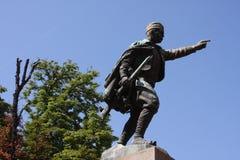 Statue of Duke Vuk Vojin Popovic in Belgrade, Serbia. Statue of Duke Vuk Vojin Popovic in Belgrade, Serbia Stock Photo